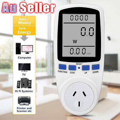 AU Plug Usage Power Watt Consumption Meter Monitor Equipment Energy Electricity