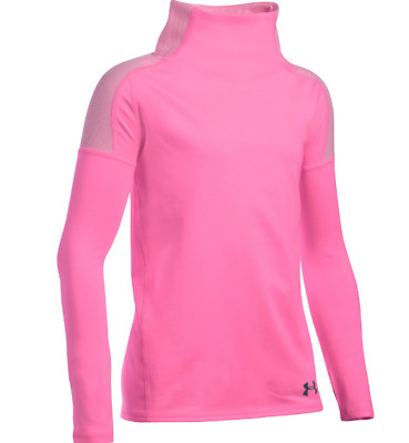 Under Armour Girls Cozy ColdGear Long Sleeve Pink Size YMD 9-10 Years *REF71