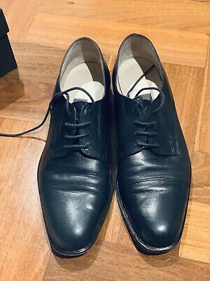 Bally Women leather navy shoes Made in Italy