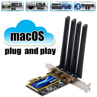 T919 Hackintosh PC BCM94360cd WiFi 1750Mbps Bluetooth 4.0 PCI-E Card for macOS