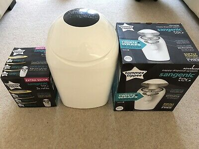 tommee tippee sangenic tec nappy disposal tub And 3 X Refills