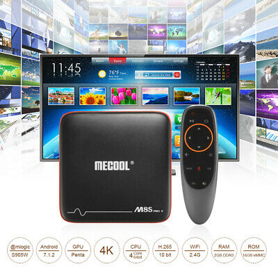 M8S 2+16G Android 7.1 Quad Core 4K Media Player Smart TV BOX WIFI 4K Movies HDMI