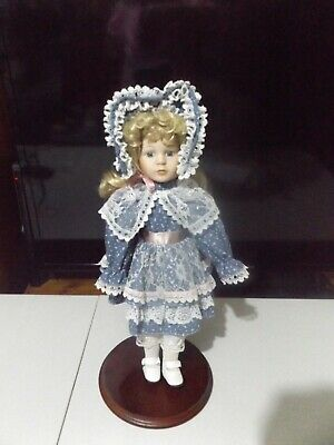 """Porcelain Pretty 16"""" With Free Doll."""