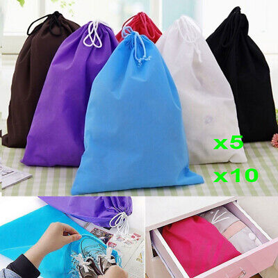 10x Waterproof Non-woven Shoes Bag Travel Sport Storage Pouch Drawstring Bags 2h