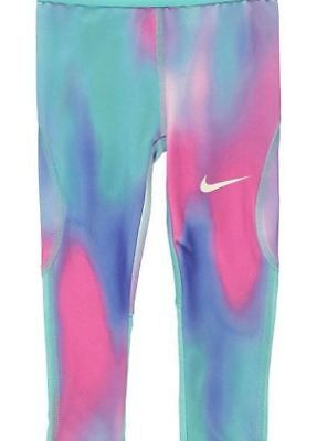 Nike Kids Girls Leggings Bottoms Pants AOP Multi UK Size 24 Months