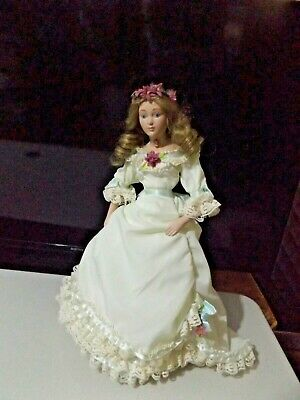 Franklin Mint Amy Little Women Lovely Porcelain Doll.