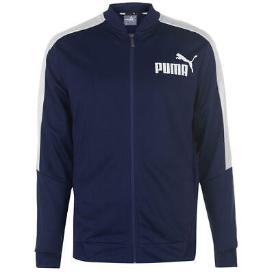 Puma Poly Tracksuit Jacket Full Zip Junior Boys Navy Size 7-8 Years *REF79