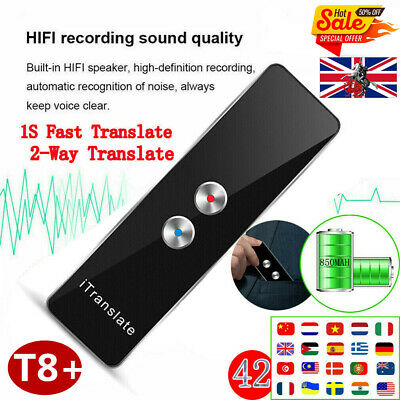 Translaty MUAMA Enence Smart Instant Real Time Voice 40 Languages Translator T8+