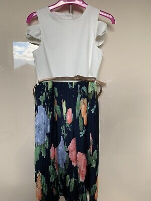 🎀 Gorgeous Ted Baker Trouser/ Dress Outfit All In One Floral Playsuit Jumpsuit