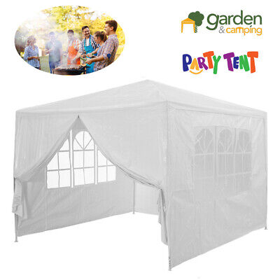 3mx3m Patio Garden Metal Gazebo Marquee Party Tent Canopy Shelter Pavilion WHITE