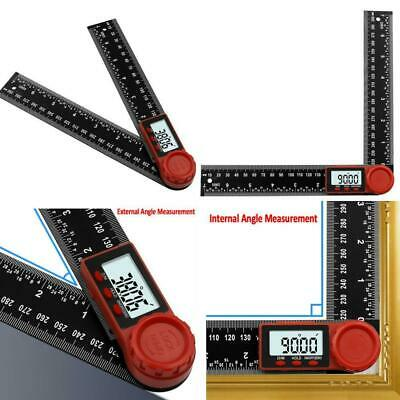 2in1 200mm Digital Protractor Angle Finder Ruler Crown Trim Woodworking