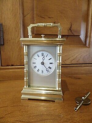 French Repeating carriage Clock Ultra Rare Miniature In A Bamboo Case By Brocot