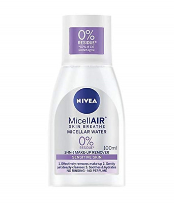 NIVEA MicellAIR Micellar Water for Sensitive Skin, 100 ml