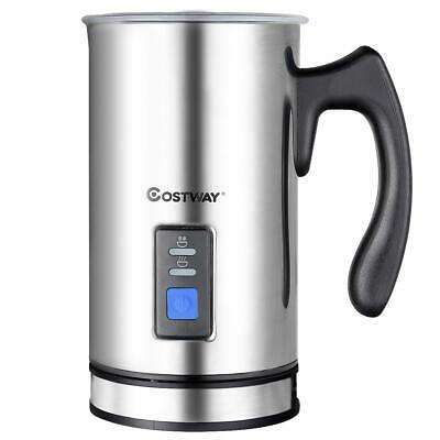 Electric Milk Frother & Heater Hot Cold Coffee Cappuccino Foam Frothing Jug WOW