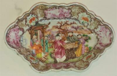 Exquisite Qianlong 18th C Chinese Finely Painted Famille Rose Spoon Tray C 1736+