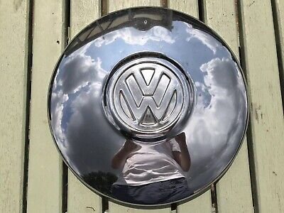 Classic Chrome Vw Beetle, T2, T25, Bay Window, Camper Hubcap / Wheeltrim
