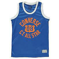 Converse Tank Top Vest kids Blue Sports Wear UK Size 12-13 Yrs *REF86