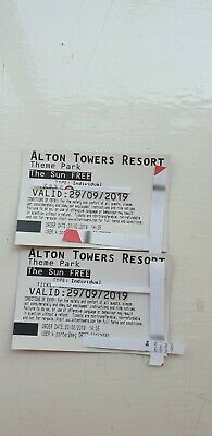 Alton towers tickets Sunday 29th Sept 2019