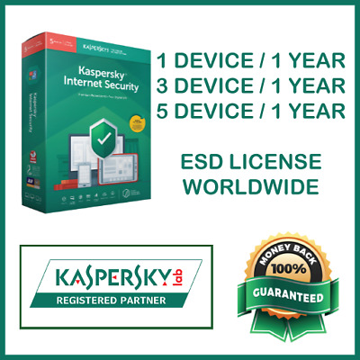Kaspersky Internet Security Antivirus 2020 | 1 Year | Global License