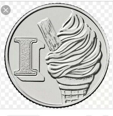 2019 10p Coin I - Ice Cream Great British Coin Hunt Letter I.... Free Postage