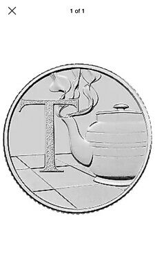 2018 10p Coin T - Tea Pot British Coin Hunt Letter T......Free Postage