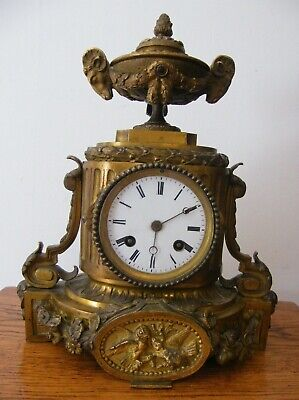 A RARE ANTIQUE FRENCH HOWARD Co PARIS GILT BRONZE CLOCK SPARES OR REPAIRS