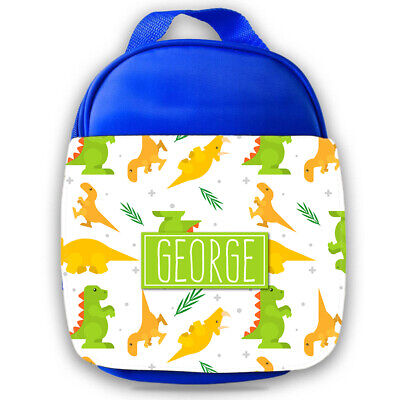 Personalised Dinosaur Kids Lunch Bag Any Name Childrens Boys School Snack Box 5