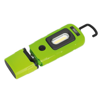 Sealey LED3601G Rechargeable 360° Inspection Lamp 3W COB + 1W LED Green Lithium