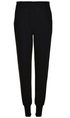 Kendall & Kylie High Rise Trousers Pants Black Womens Ladies Size 12 M *REF70
