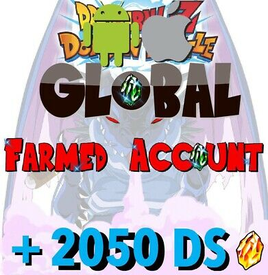 (Android & iOS)🐉Dokkan Battle🐉 GLOBAL - Farmed Account 2050+ DS Dragon Stones