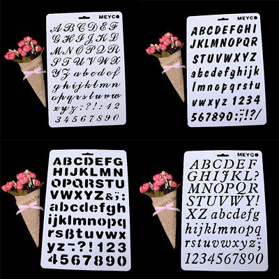 DIY Template Letter Number Layering Stencil Painting Scrapbooking Cards Craft