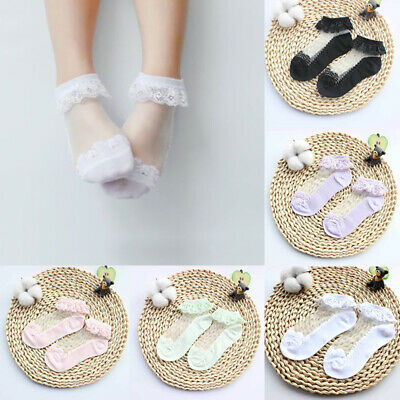 Cute Cotton Kids Baby Ankle Socks Lace Frilly Socks Girls Socks Breathable