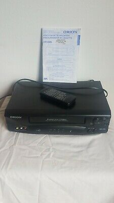 Orion VR5006 4-Head Hi-Fi Stereo VCR VHS Player with remote and booklet