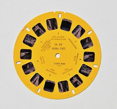 Stereo-Rama compatible View-Master : FURKA PASS / Suisse, Switzerland