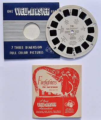 VIEW-MASTER : Fire Fighters in action - U.S.A. 1953 / pompier - RARE !