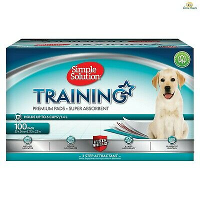 Simple Solution Puppy Training Fast Absorbing Pads - Eliminate Odours - 100 Pack