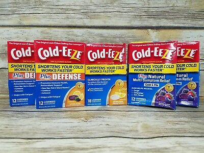 (5) COLD-EEZE Cold Remedy VARIETY FLAVORS ZINC (66 TOTAL LOZENGES)