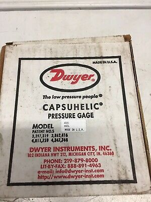 NIB Dwyer 4020 Capsuhelic 0-20in-h2o Differential Pressure Gauge