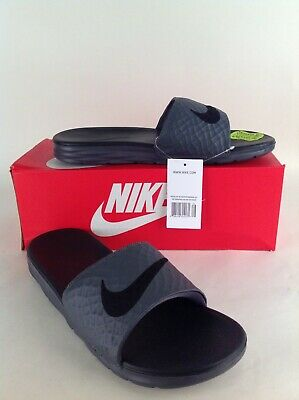 Nike Men's Benassi Solarsoft Sandals, Dark Grey/Black -Different Sizes Available