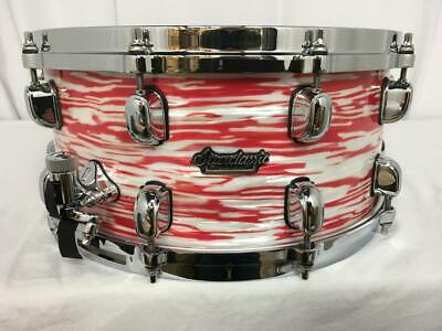 """Tama Starclassic Maple 13"""" Diameter X 6"""" Deep Snare Drum/Red & White Oyster"""