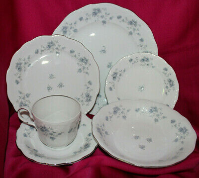 Blue Garland 6pc Place Setting JOHANN HAVILAND Bavaria Germany Fine China