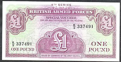 Uncirculated British Armed Forces £1.00 Voucher Fourth Series