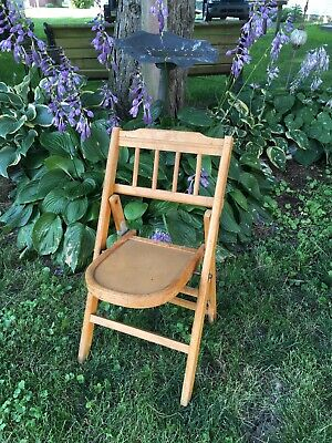 Vintage Bentwood Folding Childs Chair