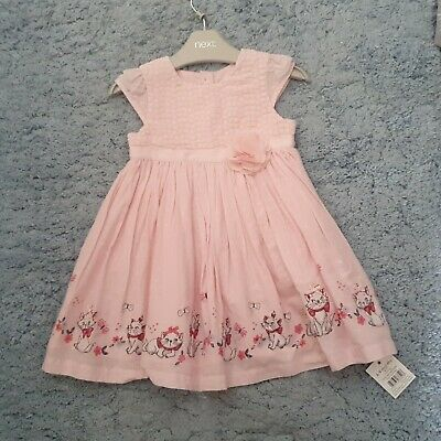 Disney Marie Cat Baby Girl Pink Dress, Age 6-9 Months