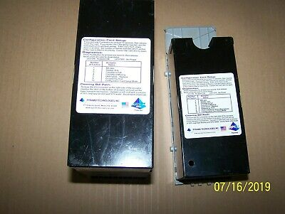 Lot of (2) Pyramid Apex Bill Boxes for Bill Validators 1 Large, 1 Small