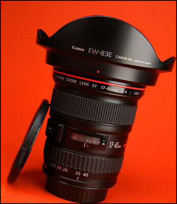 Canon EF 17-40mm F4 L USM Wide Angle Zoom Lens , Front & Rear Caps, & Hood,