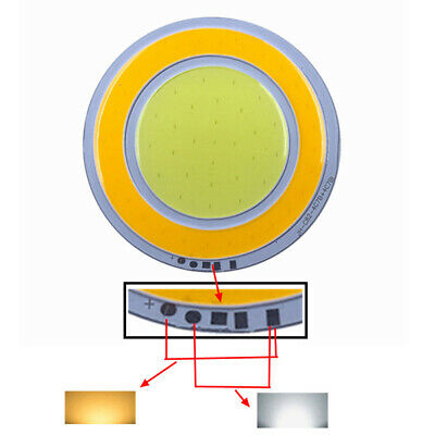 2x 8W Dimmable SMD COB Round LED Chip White + Warm White High Power Beads