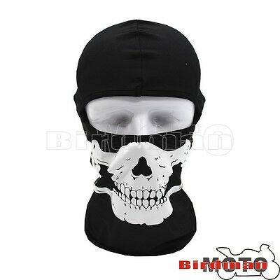Outdoor Motorcycle Cycling Ski Lycra Ghost Skull CS Balaclava Full Face Mask Cap