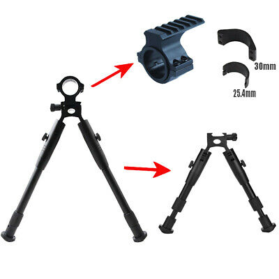 New 8-10 Inch Tactical Hunting Bipod w/24.mm&30mm Ring Rail Mount For Shoot