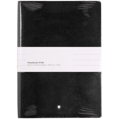 Montblanc Black Lined Fine Stationery Notebook 113294